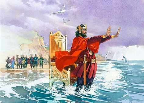 King Canute stopping the waves